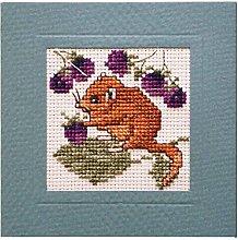 Dormouse Mouse Card Cross Stitch Kit By Textile