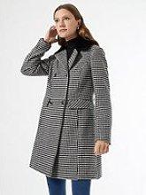 Dorothy Perkins Dolly Dogtooth Coat - Black