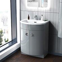Dorrans 600 mm Light Grey Vanity Basin Cabinet