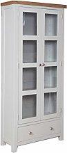 Dorset Oak Display Cabinet Solid Bookcase Pine in