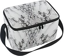 DOSHINE Abstract Marble Texture Pattern Lunch Box