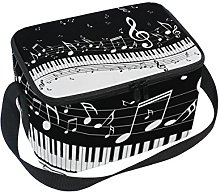 DOSHINE Abstract Music Note Lunch Box Bag,