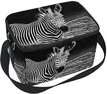 DOSHINE African Animal Zebra Lunch Box Bag,