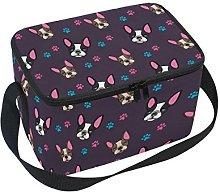 DOSHINE Animal French Bulldog Paw Print Lunch Box