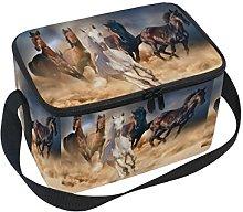 DOSHINE Animal Running Horse Lunch Box Bag,