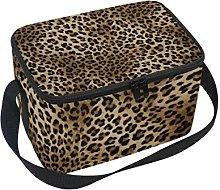 DOSHINE Animal Tiger Leopard Print Lunch Box Bag,