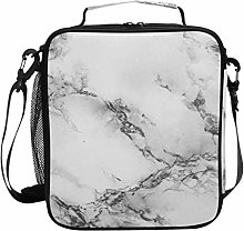 DOSHINE Insulated Lunch Bag Abstract Marble Zipper