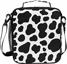 DOSHINE Insulated Lunch Bag Animal Cow Pattern