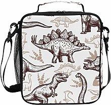 DOSHINE Insulated Lunch Bag Animal Dinosaur