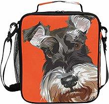 DOSHINE Insulated Lunch Bag Animal Dog Zipper