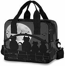 DOSHINE Insulated Lunch Bag Box, Animal Cat Music