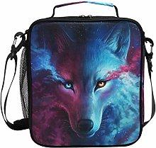 DOSHINE Insulated Lunch Bag Galaxy Animal Wolf