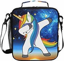 DOSHINE Insulated Lunch Bag Galaxy Star Unicorn