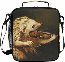 DOSHINE Insulated Lunch Bag Hedgehog Animal Music