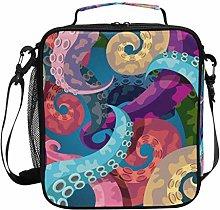 DOSHINE Insulated Lunch Bag Ocean Sea Octopus
