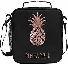 DOSHINE Insulated Lunch Bag Rose Gold Pineapple