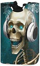 DOSHINE Laundry Basket, Halloween Skull Headphones