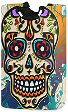 DOSHINE Laundry Basket, Mexican Sugar Skull Large