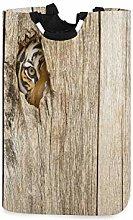 DOSHINE Laundry Basket, Siberian Animal Tiger In