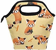 DOSHINE Lunch Bag Box Cute Red Panda Bamboo,