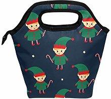 DOSHINE Lunch Bag Box Winter Holiday Christmas Elf