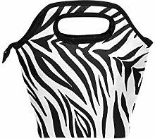 DOSHINE Lunch Bag Box Zebra Animal Print Pattern,