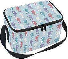 DOSHINE Ocean Seahorse Pattern Print Lunch Box