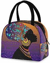 DOSHINE Reusable Lunch Bag, African Woman