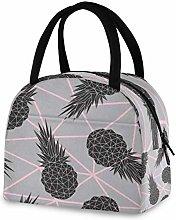 DOSHINE Reusable Lunch Bag, Geometric Tropical