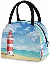 DOSHINE Reusable Lunch Bag, Seagull Ocean