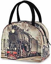 DOSHINE Reusable Lunch Bag, Vintage Express Steam