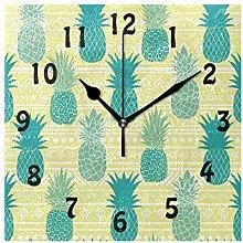DOSHINE Wall Clock, Tribal Geometric Summer