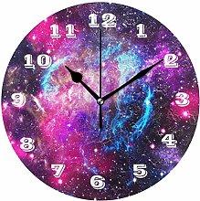 DOSHINE Wall Clock, Universe Galaxy Nebula Space