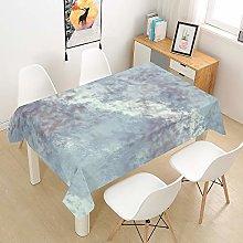 DOTBUY 3D Tablecloth Waterproof, Rectangular Table
