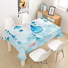 DOTBUY 3D Tablecloth Waterproof, Rectangular Table