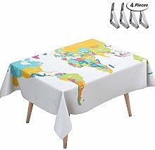 DOTBUY Tablecloth Waterproof, Rectangular Table