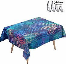 DOTBUY Tablecloth Waterproof, Rectangular Table