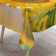 DOTBUY Tablecloth Waterproof, Sunflower