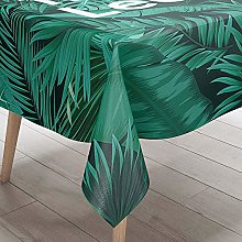 DOTBUY Tablecloth Waterproof, Tropical Plants