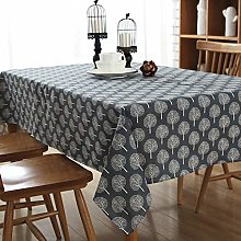 DOTBUY Tablecloths Rectangle, Cotton and Linen