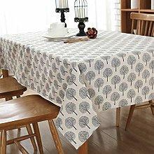 DOTBUY Tablecloths Rectangle, Cotton and Linen
