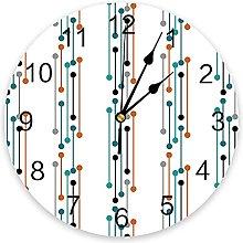 Dots Abstract 3D Wall Clock Modern Design Living