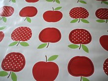 Dotty Red Apples PVC Wipe Clean Tablecloth by