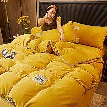 double bedding duvet set,Winter Warm Simple Pure