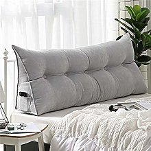Double Bedside Triangle Cushion Daybed Backrest