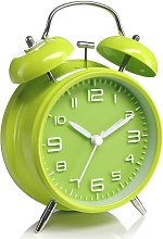 Double bell alarm clock with night light, large 4