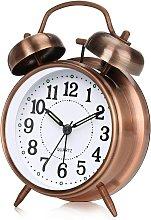 Double Bell Morning Alarm Clock, Silent Retro