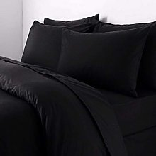 Double Black Polycotton 50/50% Duvet Quilt Cover