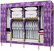 Double Canvas Effect Wardrobe - lockers with Tail,B