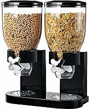 Double Cereal Dispenser Dry Food Pasta Grain